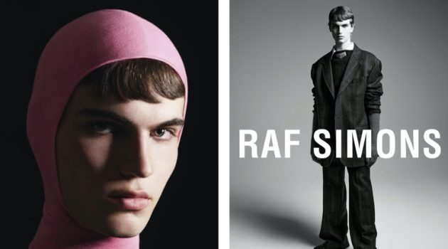 Raf Simons enlists Lars Jammaers as the star of its fall-winter 2021 campaign.