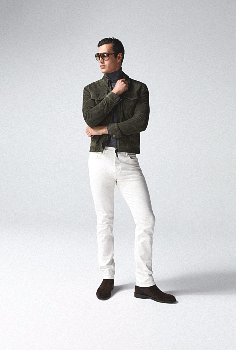 Harry Gozzett Models Reiss Icons from Fall Signatures Collection