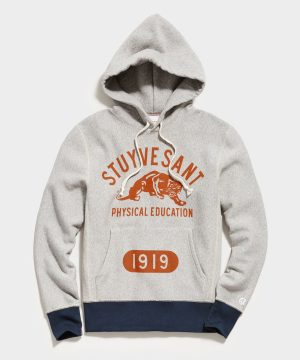 Stuyvesant Phys Popover Hoodie in Light Grey Mix