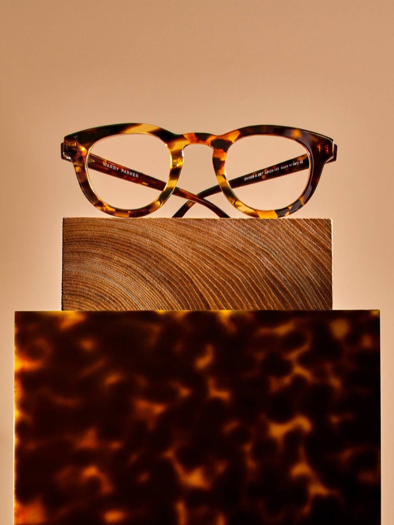Gaines glasses in Tortoise Collage II from Warby Parker