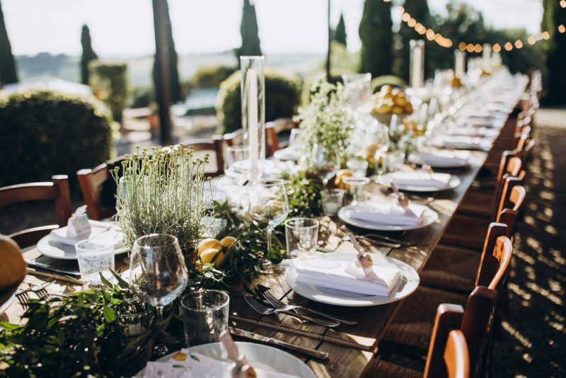 Wedding Table Plate Setting