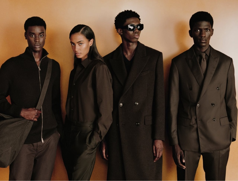 Babacar N'doye, Sacha Quenby, Ottawa Kwami, and Moustapha Sy wear chic looks from Zara's fall 2021 ORigins collection.