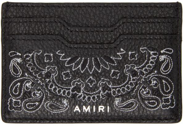 AMIRI Black Bandana Card Holder