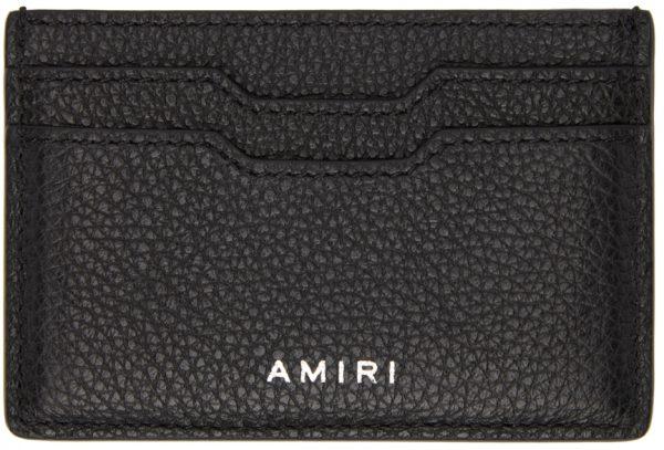 AMIRI Black Embossed Iconic Card Holder