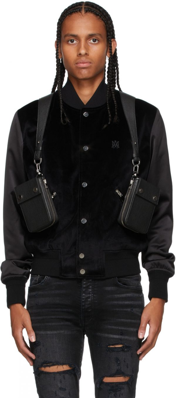 AMIRI Black Harness Pouch