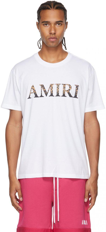 AMIRI Black Leopard Logo T-Shirt