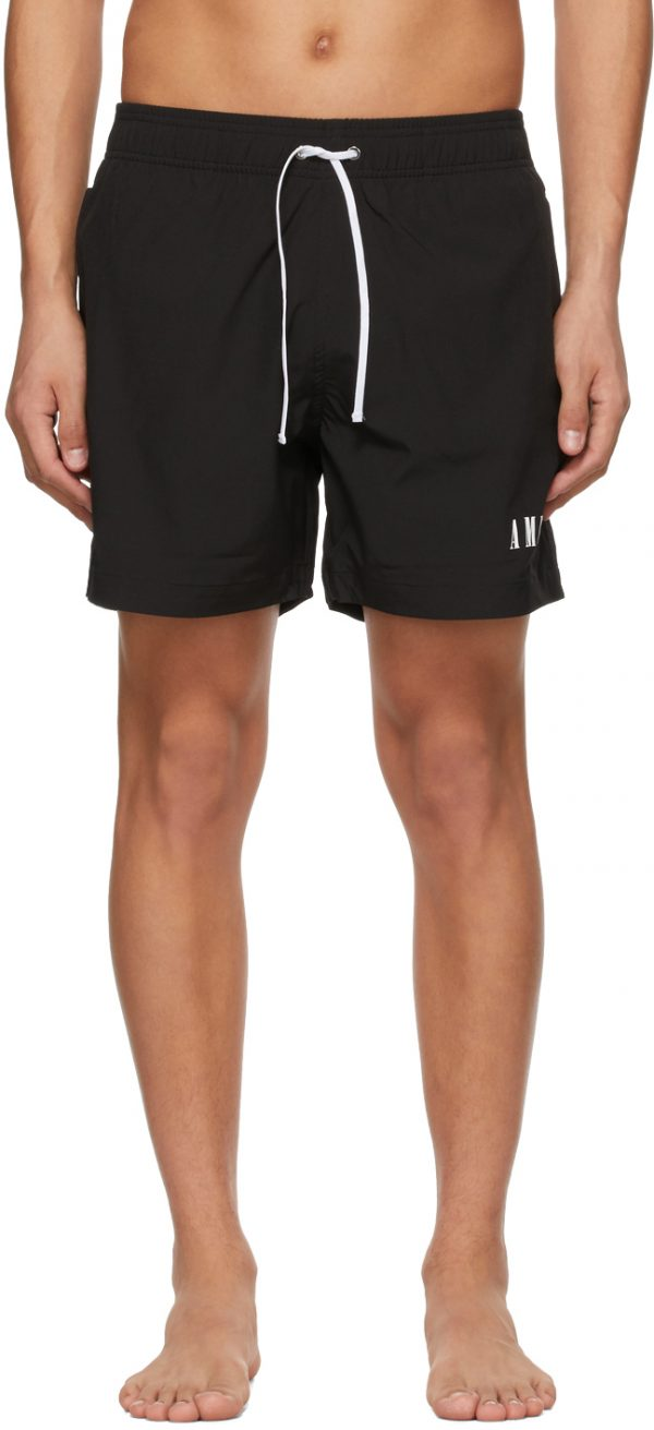 AMIRI Black Logo Swim Shorts