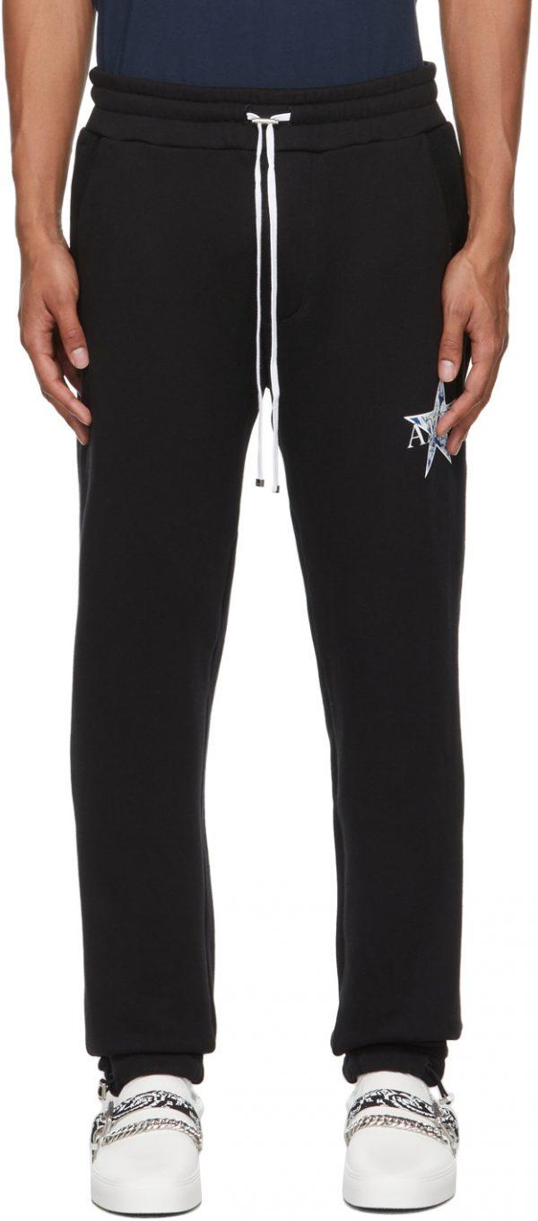 AMIRI Black Paisley Star Lounge Pants