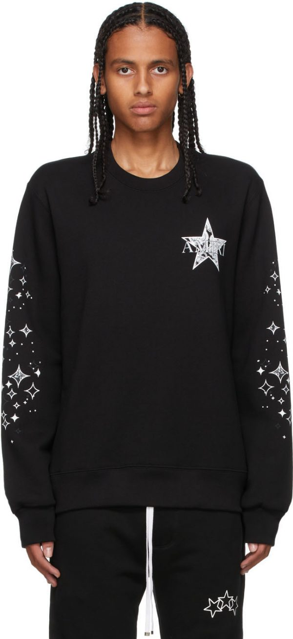 AMIRI Black Paisley Star Sweatshirt
