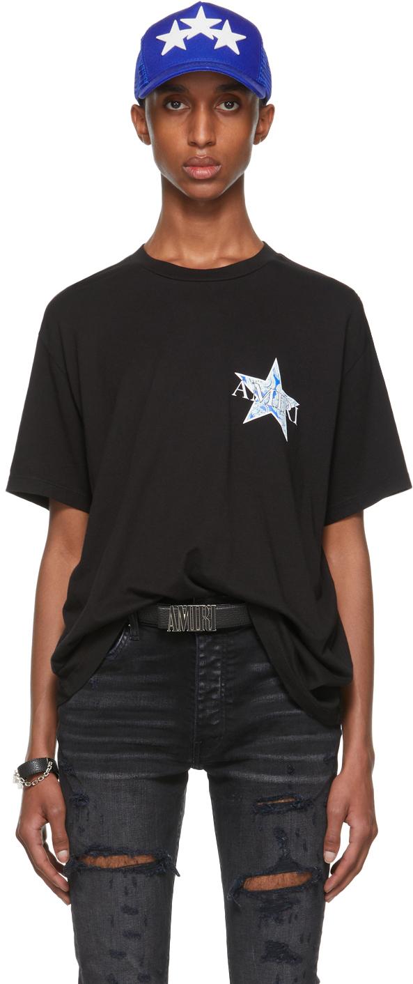 AMIRI Black Paisley Star T-Shirt