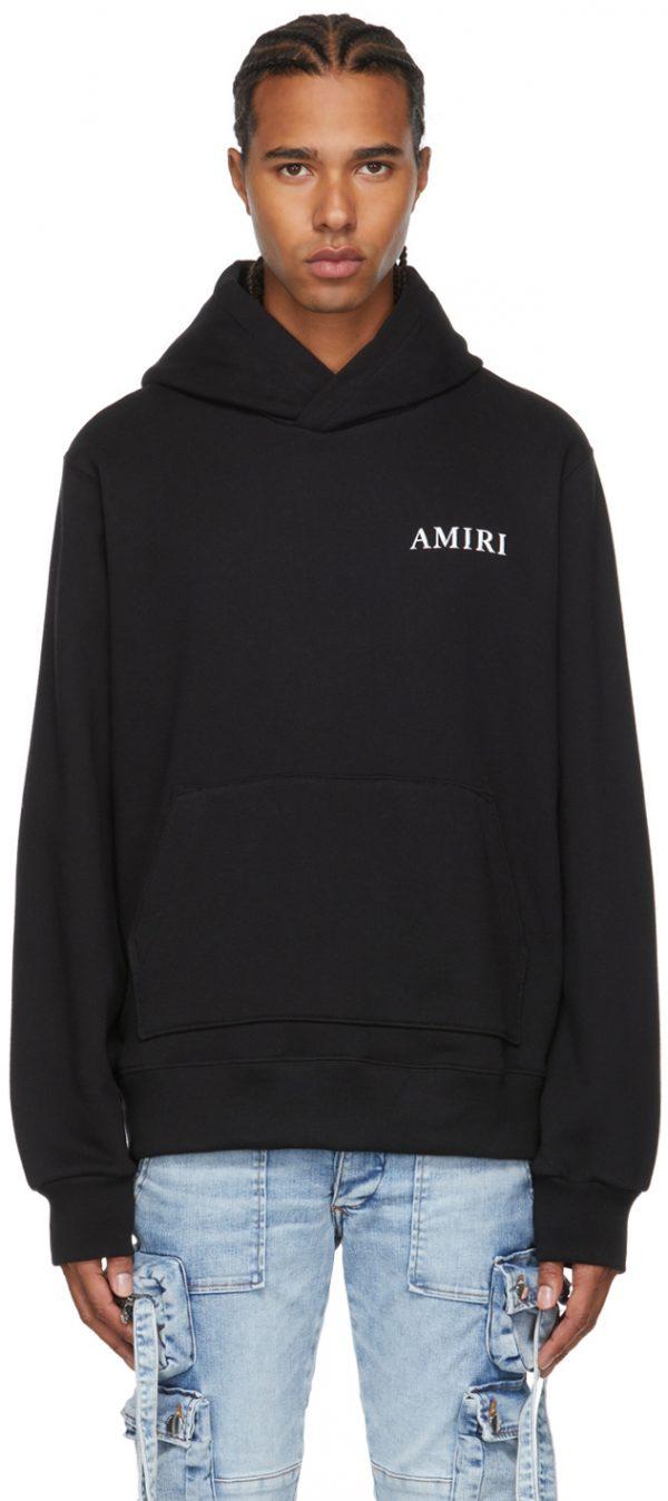 AMIRI Black Shaded Cherub Hoodie