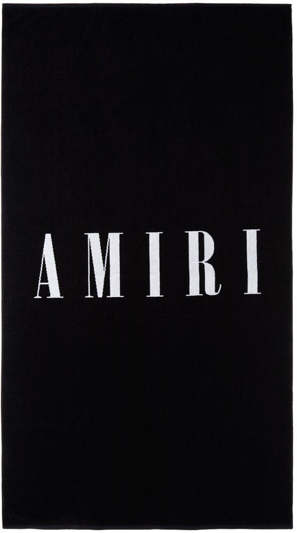 AMIRI Black Small Logo Towel