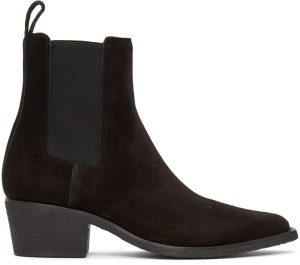 AMIRI Black Suede Chelsea Boots