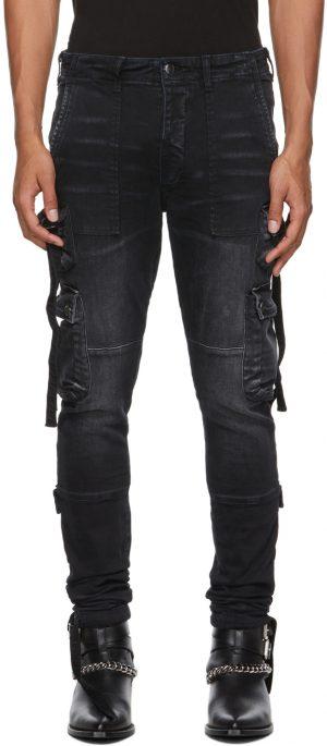 AMIRI Black Tactical Cargo Jeans