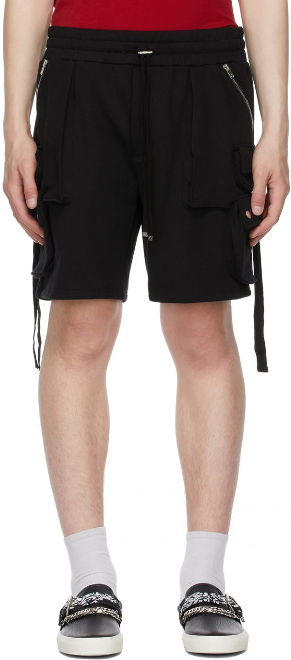 AMIRI Black Tactical Cargo Shorts
