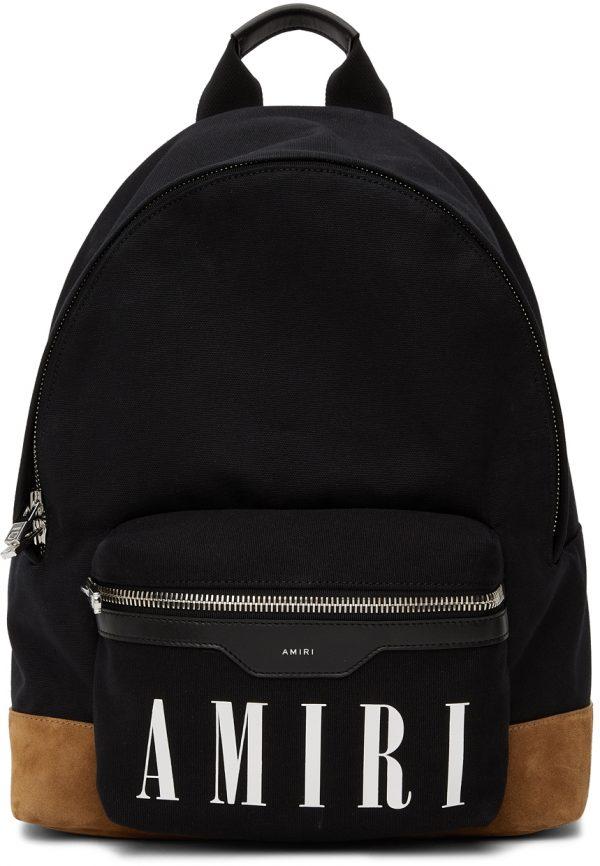 AMIRI Black & Tan Canvas Classic Backpack