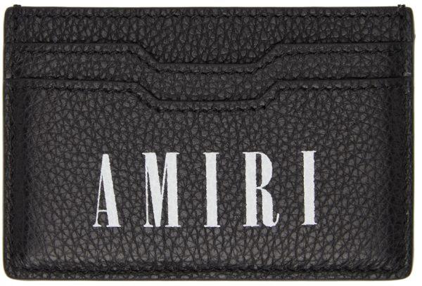 AMIRI Black & White Large Logo Card Holder