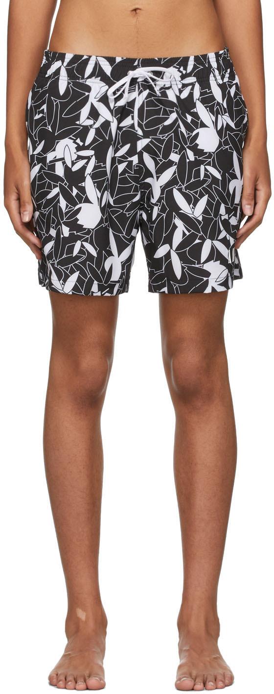 AMIRI Black & White Playboy Edition All Over Swim Shorts