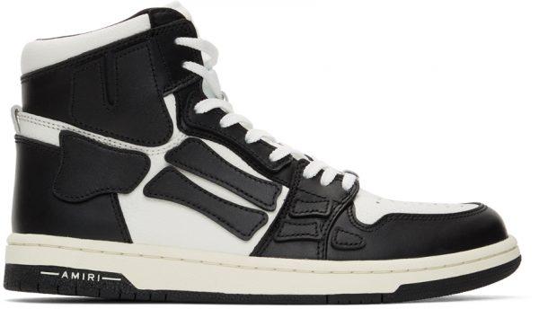 AMIRI Black & White Skel Top Hi Sneakers
