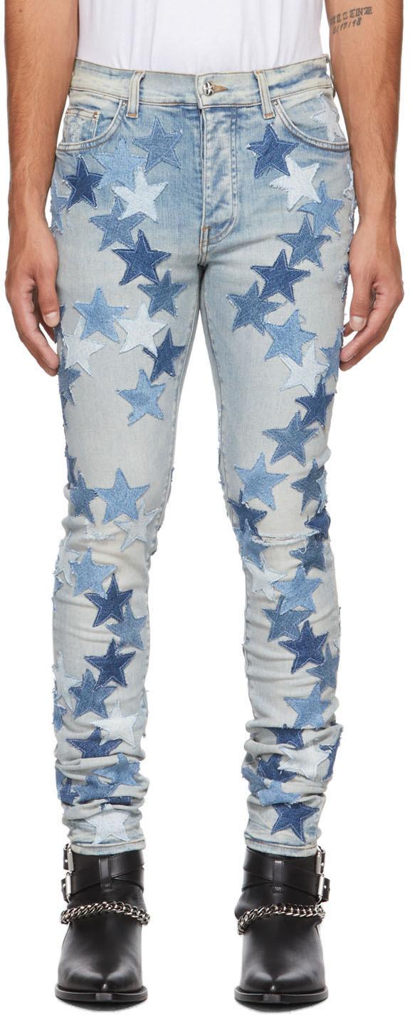 AMIRI Blue Chemist Edition Stars Jeans