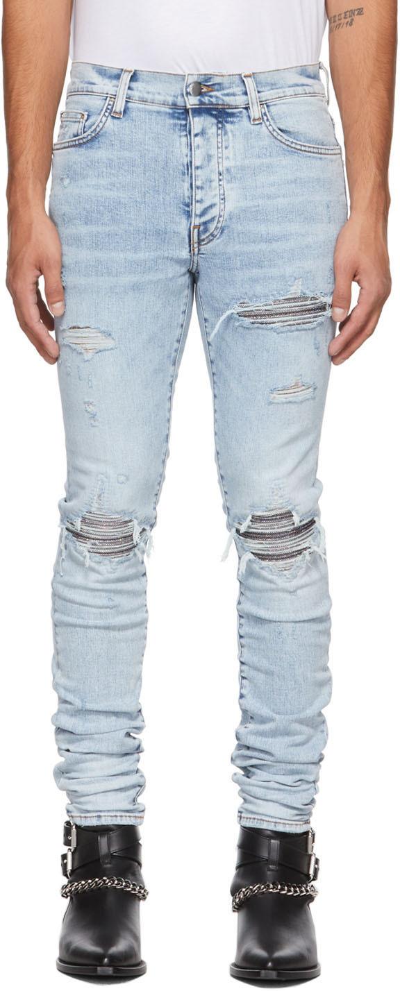 AMIRI Blue Iridescent MX1 Jeans