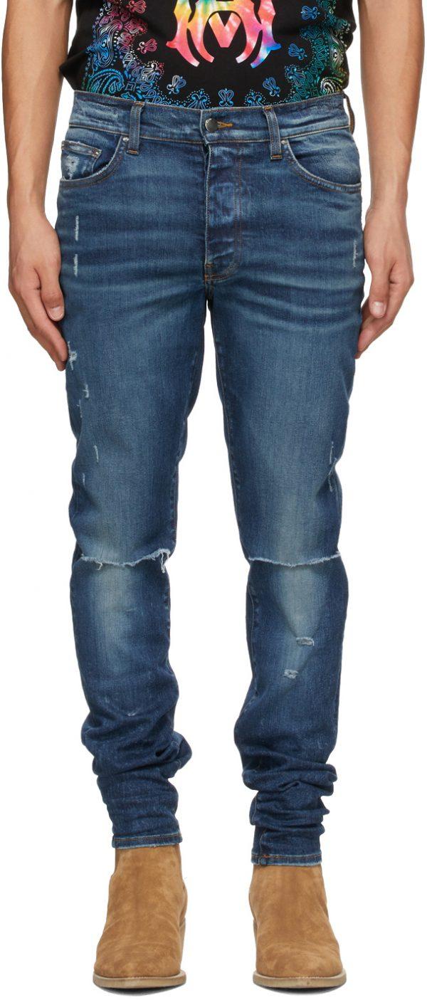 AMIRI Blue Slash Jeans