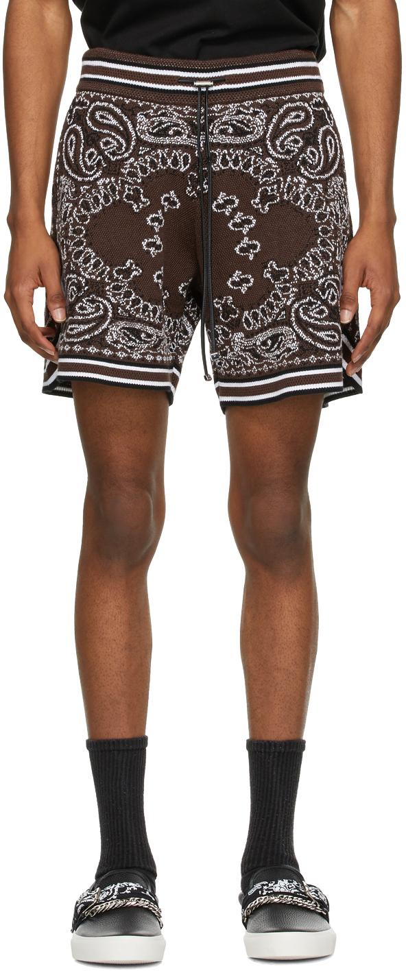 AMIRI Brown Bandana B-Ball Shorts
