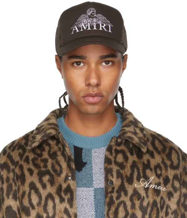 AMIRI Brown Cherub Trucker Hat
