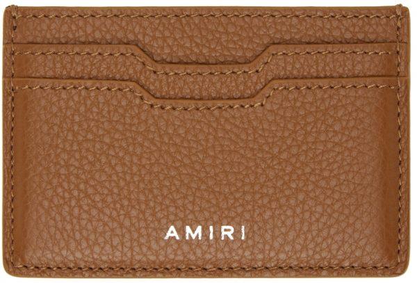 AMIRI Brown Embossed Iconic Card Holder