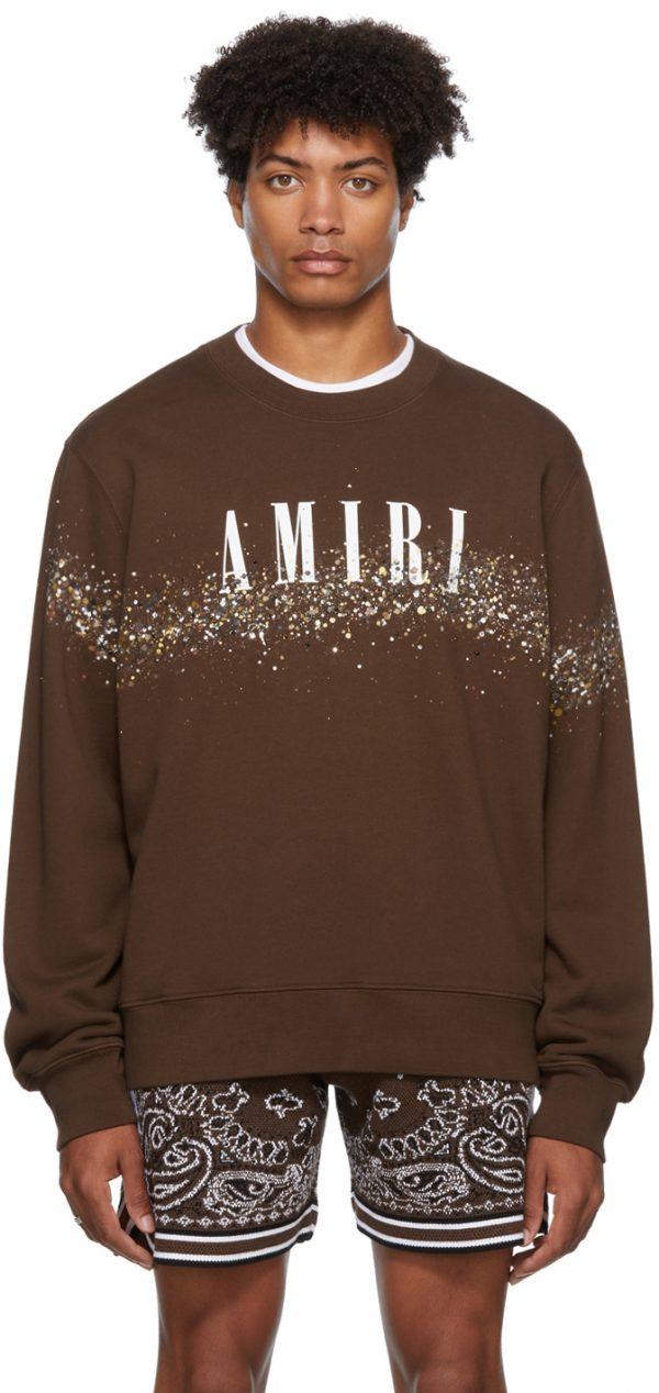 AMIRI Crystal Painter Core Logo Sweatshirt