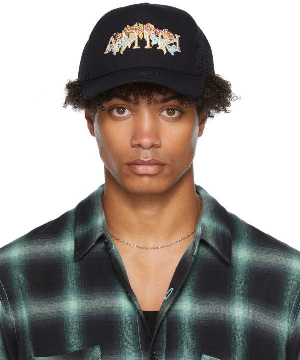 AMIRI Floral Logo Trucker Hat