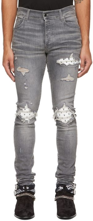 AMIRI Grey Playboy Edition MX1 Jeans