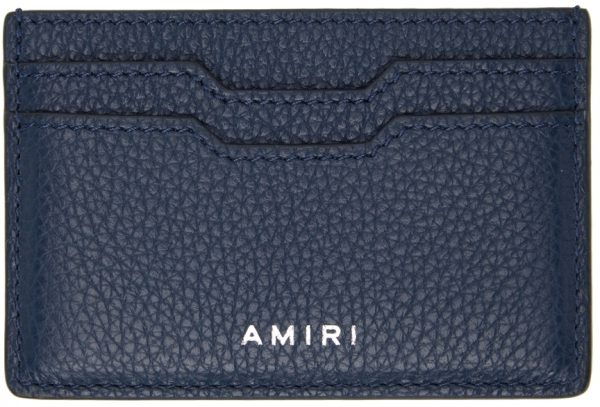 AMIRI Navy Embossed Iconic Card Holder