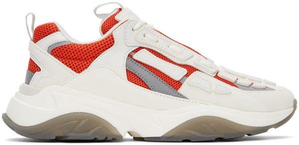AMIRI Off-White & Red Bone Runner Sneakers