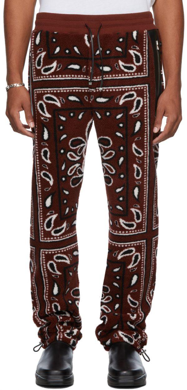 AMIRI Polar Fleece Printed Bandana Sweatpants