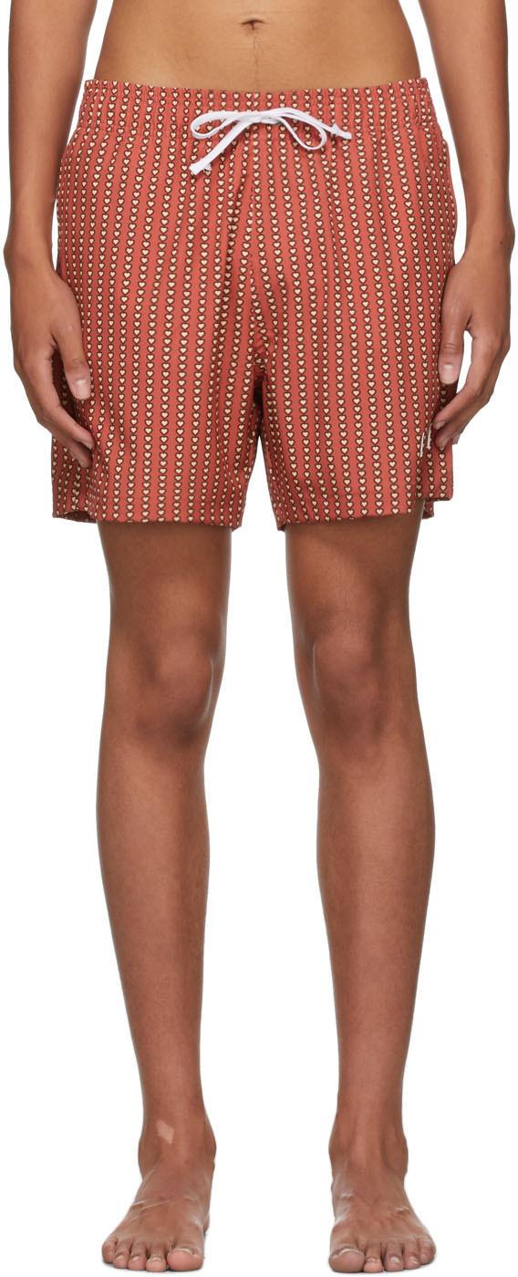 AMIRI Red Hearts Swim Shorts