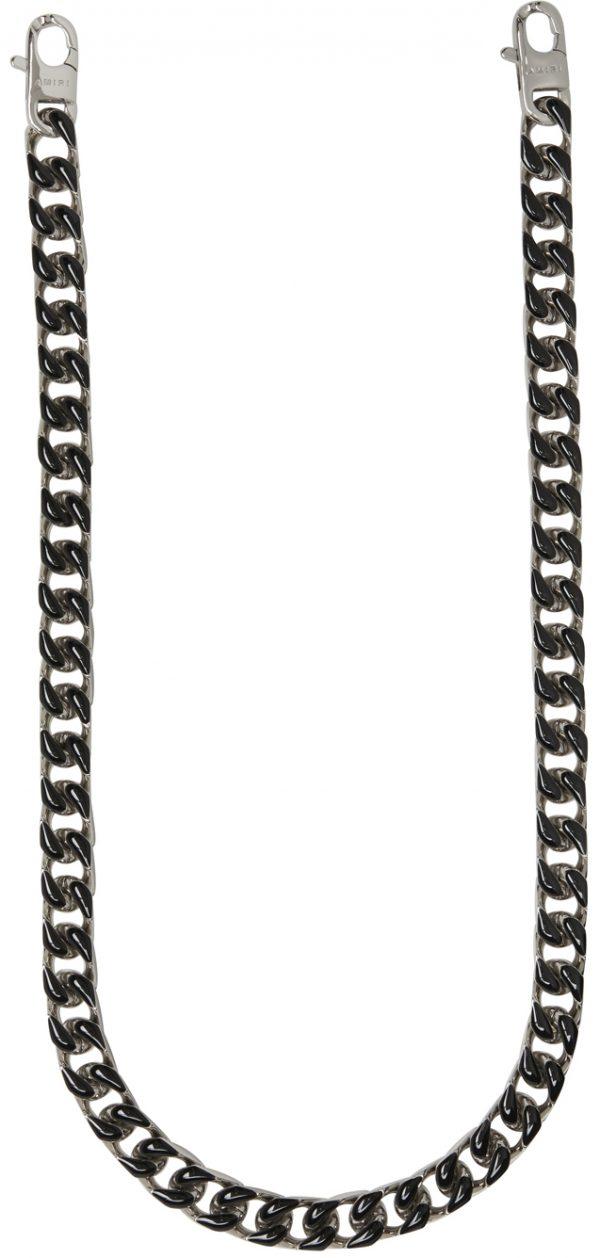AMIRI Silver & Black Wallet Chain
