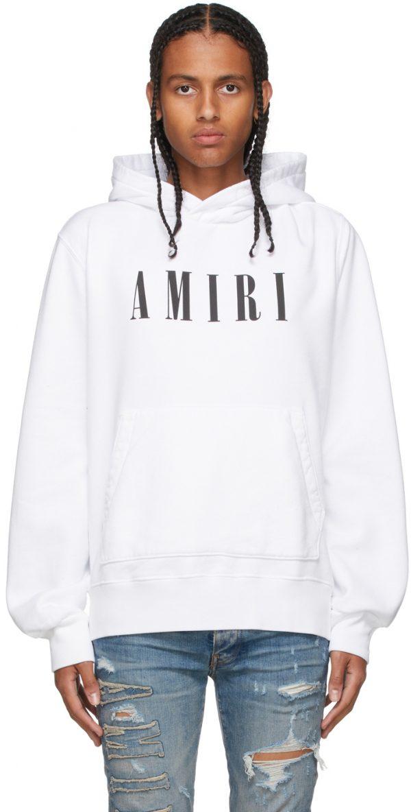 AMIRI White Core Logo Hoodie