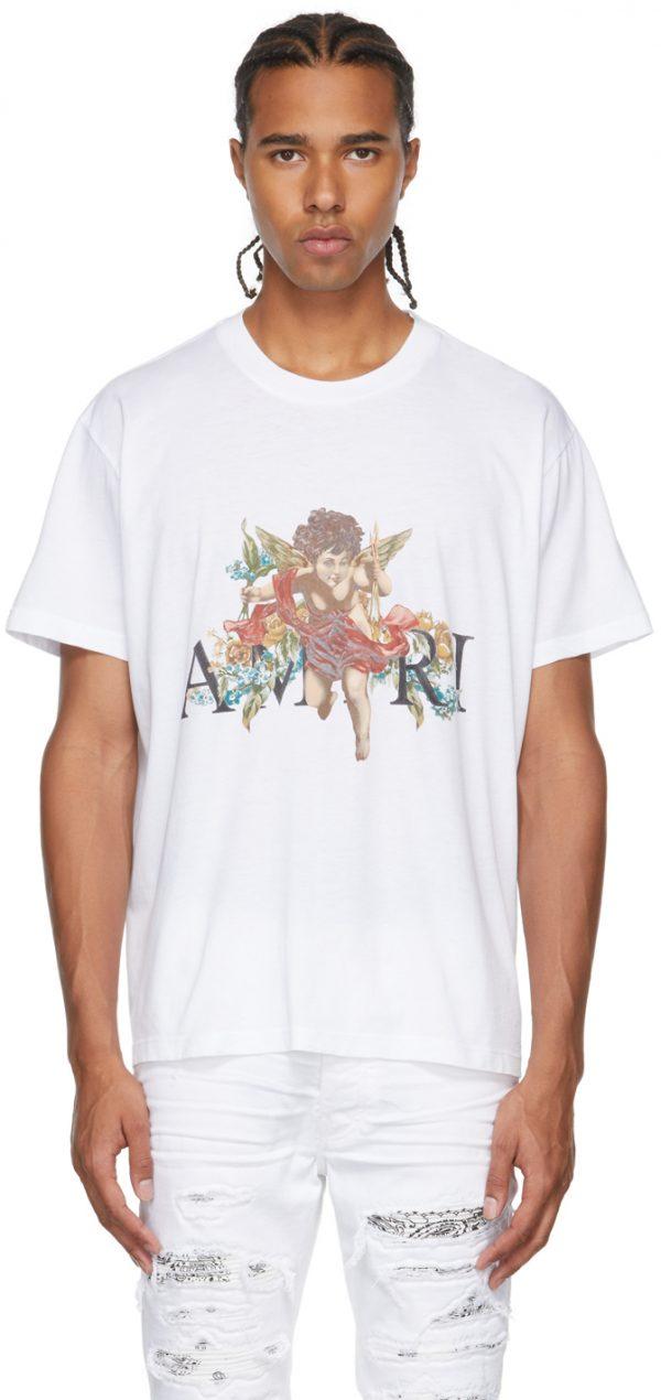 AMIRI White Graphic Cherub T-Shirt