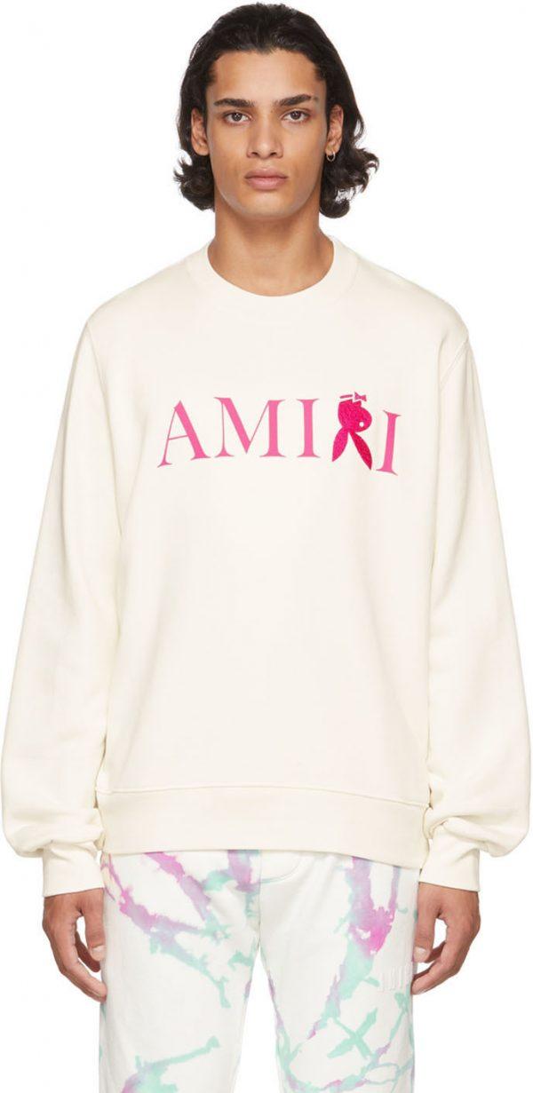 AMIRI White Playboy Edition Reverse Bunny Sweatshirt