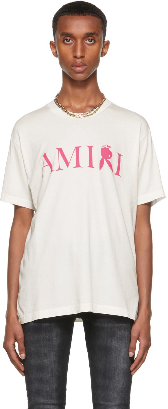 AMIRI White Playboy Edition Reverse Bunny T-Shirt