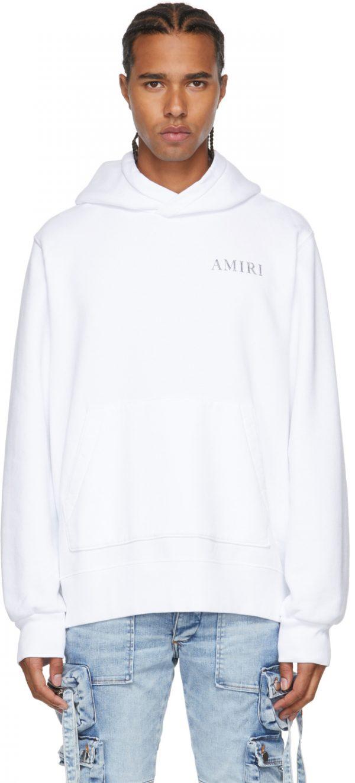 AMIRI White Shaded Cherub Hoodie
