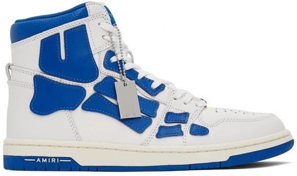 AMIRI White & Blue Skel Top Hi Sneakers