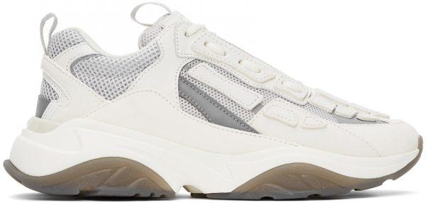 AMIRI White & Grey Bone Runner Sneakers