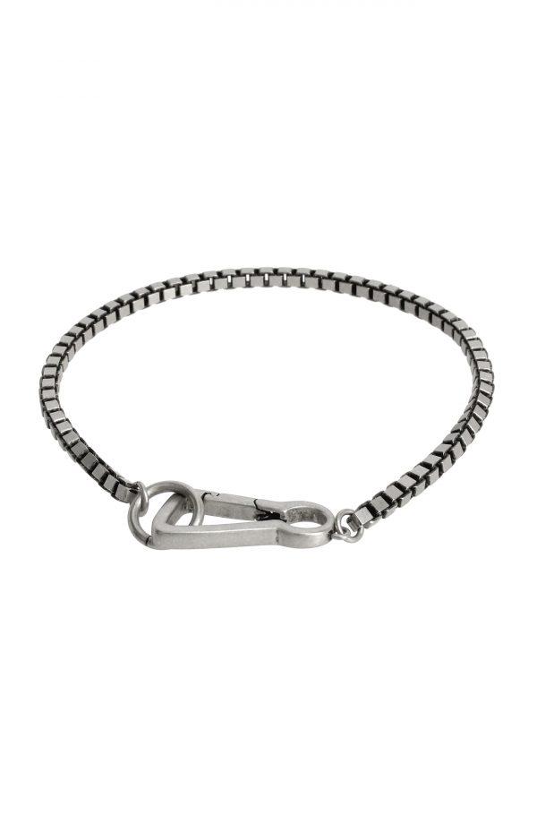 Allsaints Box Chain Sterling Silver Bracelet