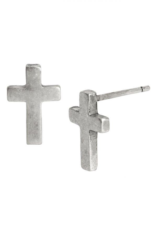 Allsaints Cross Stud Earrings