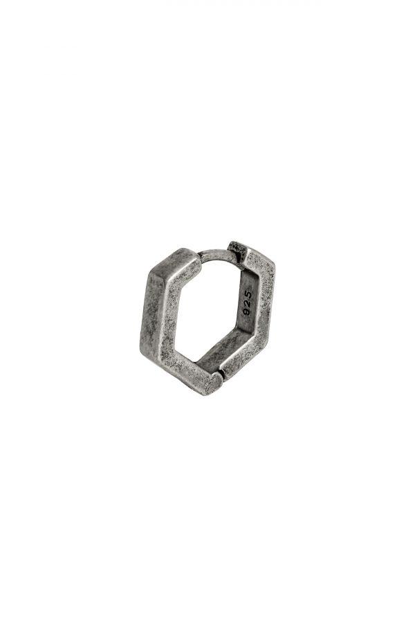 Allsaints Hexagon Hoop Single Earring