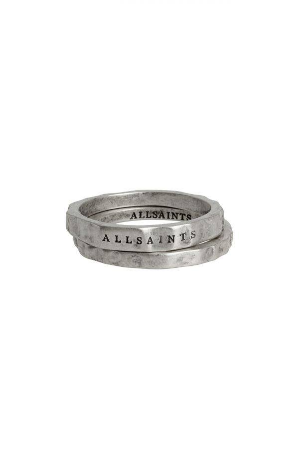 Allsaints Set Of 2 Burnished Rings