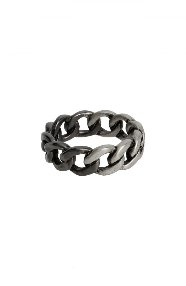 Allsaints Sterling Silver Chain Ring