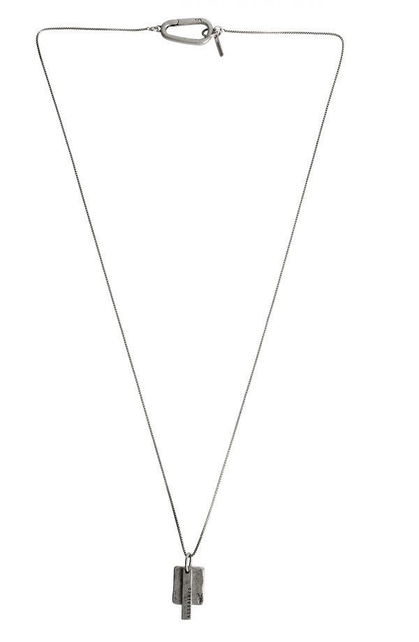 Allsaints Tag Double Pendant Necklace